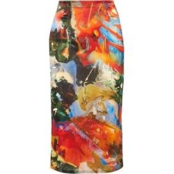 3/4 Length Skirt - Orange - Mugler Skirts found on MODAPINS from lyst.com for USD $690.00
