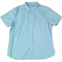 petite Lacoste Mens Shirt Blue Size Large L FR 42 Regular-Fit Button Front (L), Men's(cotton, plaid) found on MODAPINS from Overstock for USD $52.98