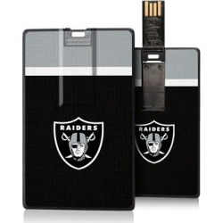 Las Vegas Raiders Striped Credit Card USB Drive found on Bargain Bro from Fanatics for USD $18.99