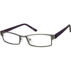 Zenni Men's Classic Rectangle Prescription Glasses Gray Plastic Frame found on Bargain Bro from Zenni Optical for USD $9.84