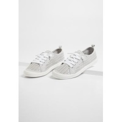 Maurices Womens Mariah Gray Suede Perforated Slip On Sneakers - Size 8 1/2 found on Bargain Bro from Maurices for USD $18.92
