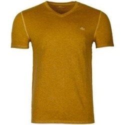 petite Lacoste Men's Vintage Sport Short Sleeve V-Neck Cotton T-Shirt (Polenta Chine Used Yellow - S) found on MODAPINS from Overstock for USD $57.24