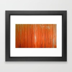 Framed Art Print | Orange Strings by Art Of Jan - Vector Black - X-Small-10x12 - Society6 found on Bargain Bro India from Society6 for $35.19