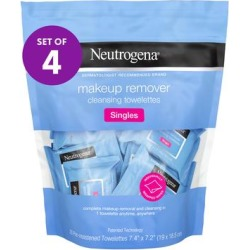 Neutrogena Skin Cleansers - 20-Ct. Singles Makeup Remover Cleansing Towelettes - Set of 4