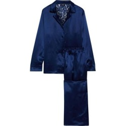 Anja Corded Lace-paneled Silk-satin Pajama Set - Blue - Cosabella Nightwear found on Bargain Bro India from lyst.com for $266.00