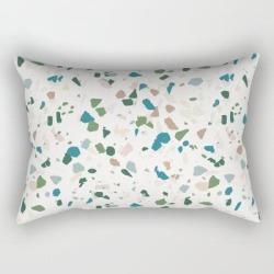 Rectangular Pillow   Terazzo by Holli Zollinger - Small (17