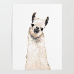 Art Poster | Llama by Big Nose Work - 18