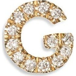 Diamond 18k Yellow Gold Letter Charm - G - Pink - Loquet London Necklaces found on Bargain Bro from lyst.com for USD $326.80