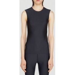 Sleeveless Round Neck Top - Black - Balenciaga Tops found on Bargain Bro from lyst.com for USD $215.08
