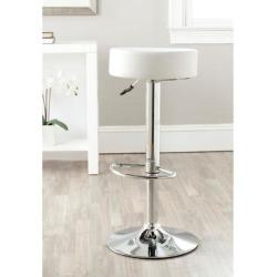 Safavieh 25.6-31.5-inch Jute White Adjustable Swivel Bar Stool - 15.2