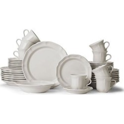 Mikasa French Countryside 40-pc. Dinnerware Set, White found on Bargain Bro from Kohl's for USD $250.79