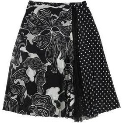 Fuzzi Womens Floral & polka Dot Tulle Tulle Skirt, Black, Large (Black - Large), Women's(rayon) found on MODAPINS from Overstock for USD $219.83