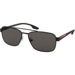 Prada Sunglasses Black - Black & Gray Squared Aviator Sunglasses found on Bargain Bro from zulily.com for USD $91.19