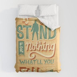 """Comforters   Make A Stand by Risa Rodil - Queen: 88"""" x 88"""" - Microfiber Polyester - Society6"""
