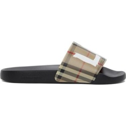 Beige Vintage Check Love Furley Slides - Brown - Burberry Sandals found on Bargain Bro India from lyst.com for $350.00
