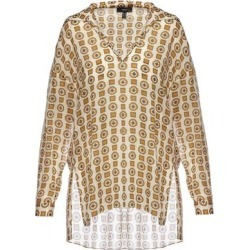 V- Neck Viscose Shirt - Metallic - Nissa Tops found on Bargain Bro India from lyst.com for $266.00