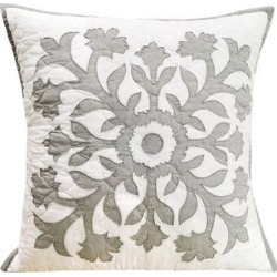 Croft & Barrow Eloise Bedspread Throw Pillow, Light Grey, Fits All found on Bargain Bro India from Kohl's for $27.99