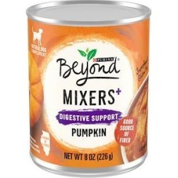 Purina Beyond Mixers + Digestive Support Pumpkin Grain-Free, Limited Ingredient Dog Food Complement, 8-oz can, case of 12