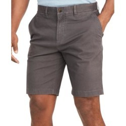 Tommy Hilfiger Mens Chino Shorts Gray Size 35 ThFlex Stretch Flat Front (35), Men's(cotton) found on Bargain Bro from Overstock for USD $25.06