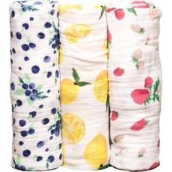 Little Unicorn - Gift Set Of 3 Lemonade Milleusi Swaddle Blankets