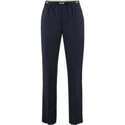 Virgin Wool Trousers - Blue - MSGM Pants found on MODAPINS from lyst.com for USD $286.00