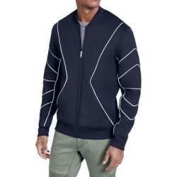 INC Mens Bomber Jackets Blue Size Large L Contrast Piped Full Zip Scuba (L), Men's(polyester) found on Bargain Bro Philippines from Overstock for $28.98