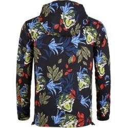 Men Floral Windbreaker Jacket Zip Up Lightweight Athletic Jackets - Black (L), Men's, Unique Bargains(Polyester) found on Bargain Bro Philippines from Overstock for $33.99