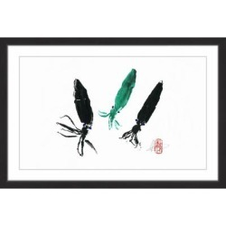 Marmont Hill - Handmade Ink Brothers & Sister Framed Print found on Bargain Bro Philippines from Overstock for $138.49