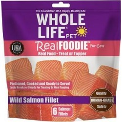 Whole Life RealFoodie Wild Salmon Fillet Cat Treats & Topper, 6 count found on Bargain Bro from Chewy.com for USD $20.51