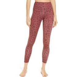 High Rise Midi Leggings - Red - Onzie Pants found on MODAPINS from lyst.com for USD $69.00