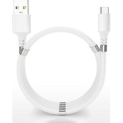 Tech Zebra Type-C Cables White - White Magnetic Tangle-Free USB-C Cable found on Bargain Bro Philippines from zulily.com for $11.49