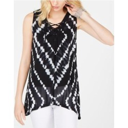 INC Womens Black Printed Sleeveless V Neck Trapeze Top Size S (Black - S), Women's(Nylon, Solid) found on Bargain Bro India from Overstock for $11.54