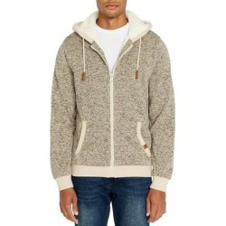 Buffalo David Bitton Mens Hoodie Beige Large L Full Zip Sherpa Marled (L), Men's(polyester) found on MODAPINS from Overstock for USD $44.08