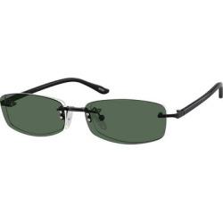 Zenni Rectangle Rimless Prescription Glasses W/ Snap-On Sunlens Black Plastic Frame found on Bargain Bro Philippines from Zenni Optical for $19.95