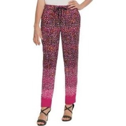 DKNY Womens Casual Pants Animal Print Gathered Waist - Pink (M), Women's(polyester) found on Bargain Bro from Overstock for USD $19.94
