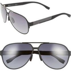 63mm Aviator Sunglasses - Black - BOSS by Hugo Boss Sunglasses found on Bargain Bro India from lyst.com for $245.00