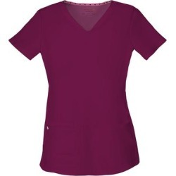 HeartSoul Break On Through Shaped V-Neck Top (Size L) Wine, Polyester,Spandex found on Bargain Bro Philippines from ShoeMall.com for $26.99