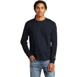 Champion Men's Cotton Long Sleeve Tee (Navy - XL), Blue found on Bargain Bro Philippines from Overstock for $19.34