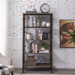 Williston Forge 62.4''Height 5-Tier Modern Industrial Bookshelf, Size 62.4 H x 32.7 W x 16.1 D in | Wayfair C1A899747D5F4B38929C8C50C9AEFE5C found on Bargain Bro Philippines from Wayfair for $319.99