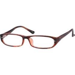 Zenni Women's Rectangle Prescription Glasses Red Plastic Frame found on Bargain Bro Philippines from Zenni Optical for $12.95