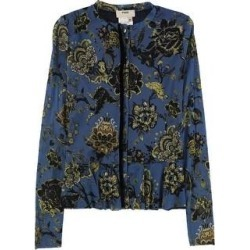 Fuzzi Womens Mesh Button Down Blouse medblue M (Blue - M), Women's(nylon, floral) found on MODAPINS from Overstock for USD $279.06