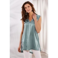 Women's Summer Romance Tunic Top & Cami by Soft Surroundings, in Stormy size XS (2-4)