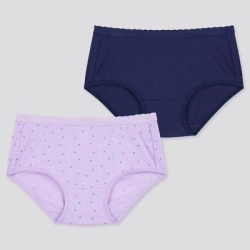 UNIQLO Girl's Airism Cotton Shorts (Set Of 2), Purple, 3Y found on Bargain Bro India from Uniqlo for $9.90