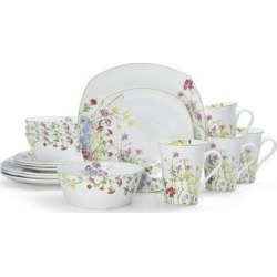 Mikasa Wildflower Garden 16 pc. Dinnerware Set, Multicolor, 6 PC PL ST found on Bargain Bro from Kohl's for USD $114.37