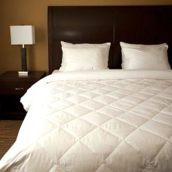 Diamond Quilted White Down Blanket found on Bargain Bro from Overstock for USD $90.43