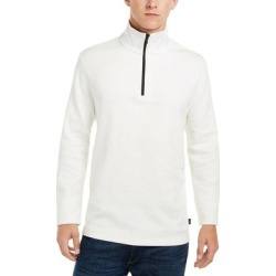 DKNY Mens Sweater White Ivory Size 2XL Mockneck 1/2 Zip Ribbed Pullover (2XL), Men's, Beige(cotton) found on Bargain Bro from Overstock for USD $25.82