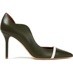 Morrissey 85 Leather Pumps Dark Green - Green - Malone Souliers Heels found on Bargain Bro Philippines from lyst.com for $312.00