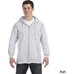 Hanes Men's Ultimate Cotton 90/10 Full-zip Hooded Jacket (3XL,light steel), Gray found on Bargain Bro Philippines from Overstock for $27.44