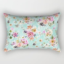 "Wild Love Pretty Floral Rectangular Pillow by Barbarian By Barbra Ignatiev - Small (17"" x 12"")"