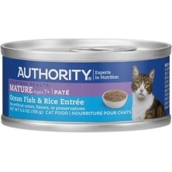 Authority Ocean Fish & Rice Entree Mature Pate Canned Cat Food, 5.5-oz, case of 24